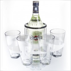 Party Grip-O with 4 hi-ball glasses and tray, bottle not included
