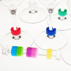 Little-O wine glass identifiers